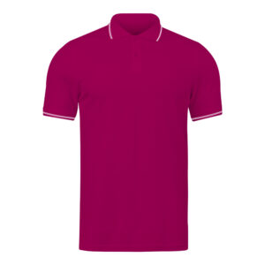 Ruffty Magenta Collar Neck T-shirt With White Tipping