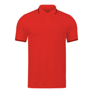 Ruffty Red Collar Neck T-shirt With Black Tipping