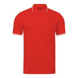 Ruffty Red Collar Neck T-shirt With White Tipping