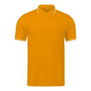 Ruffty Tangerine Collar Neck T-shirt With White Tipping