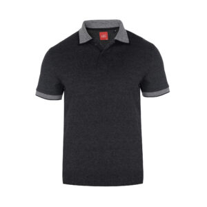Scott Basic Polo Charcoal T-shirt With White Collar