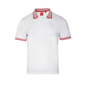 Scott Basic Polo White T-shirt With Red Collar