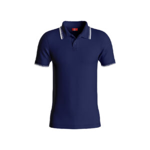 Navy Blue Premium Performance DryFit Collar T-shirt With White Tipping