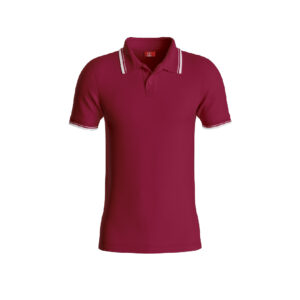 Maroon Premium Performance DryFit Collar T-shirt With White Tipping