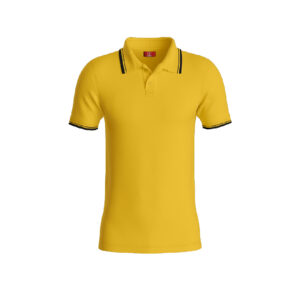 Yellow Premium Performance DryFit Collar T-shirt With Black Tipping