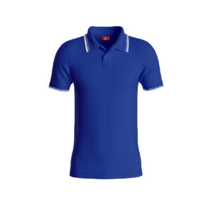 Royal Blue Premium Performance DryFit Collar T-shirt With White Tipping