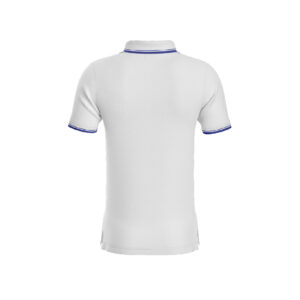 White Premium Performance DryFit Collar T-shirt With Blue Tipping