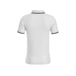 White Premium Performance DryFit Collar T-shirt With Black Tipping
