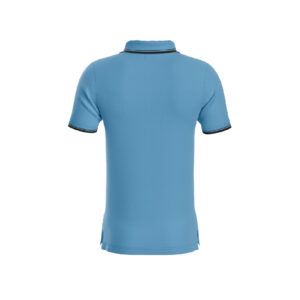 Sky Blue Premium Performance DryFit Collar T-shirt With Black Tipping
