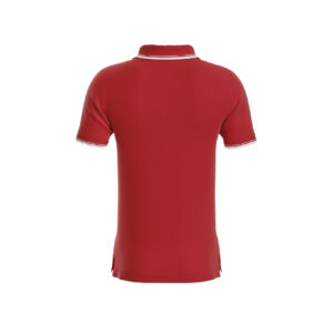 Red Premium Performance DryFit Collar T-shirt With White Tipping