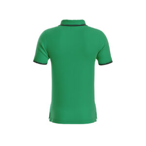 Green Premium Performance DryFit Collar T-shirt With Black Tipping
