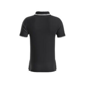 Black Premium Performance DryFit Collar T-shirt With White Tipping
