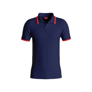 Navy Blue Basic Pro Performance DryFit Collar T-shirt With Red Tipping