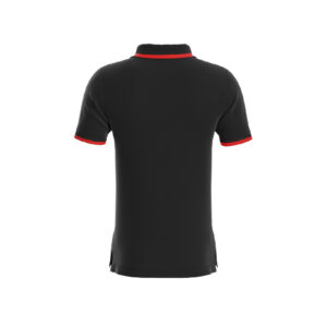 Black Basic Pro Performance DryFit Collar T-shirt With Red Tipping