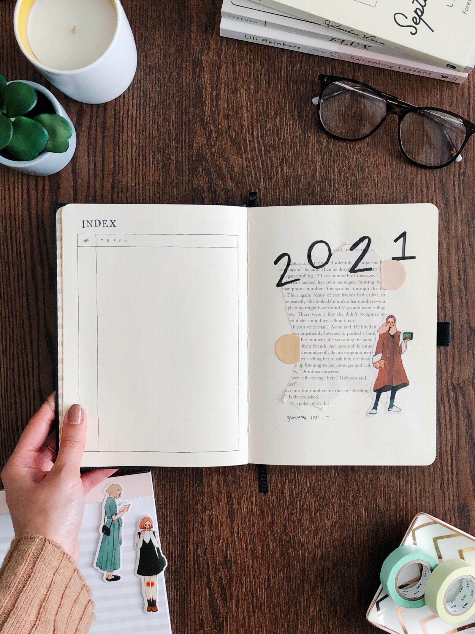 2021 bullet journal setup