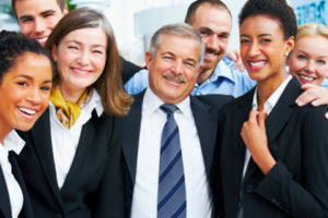 DiSC Manager with happy employees