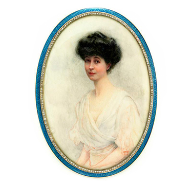 An Enamel, Diamond and Gold Picture Frame, By Cartier