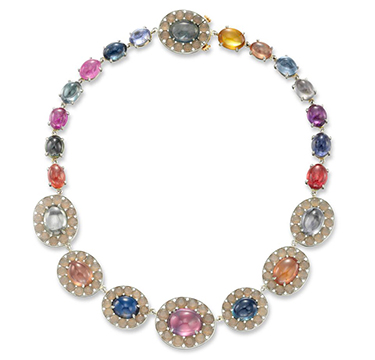 A Multi-gem, Agate and Diamond Necklace, by SABBA