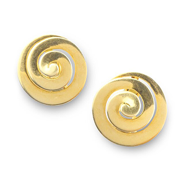 A Pair of Gold Spiral Ear Clips, by Bulgari