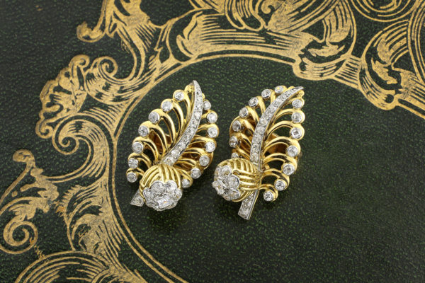 Cartier Gold And Diamond Ear Clips