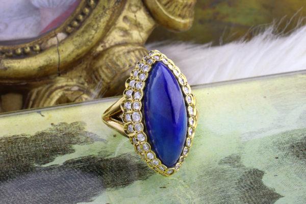 Cartier Lapis Lazuli And Diamond Ring