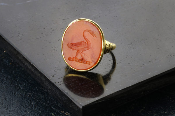 Antique Carnelian Intaglio Ring
