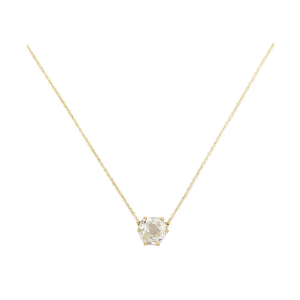 Octagonal Diamond Pendant Necklace