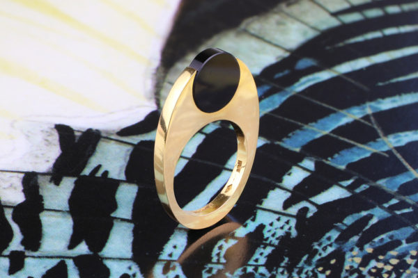 Pierre Cardin Gold And Onyx Ring