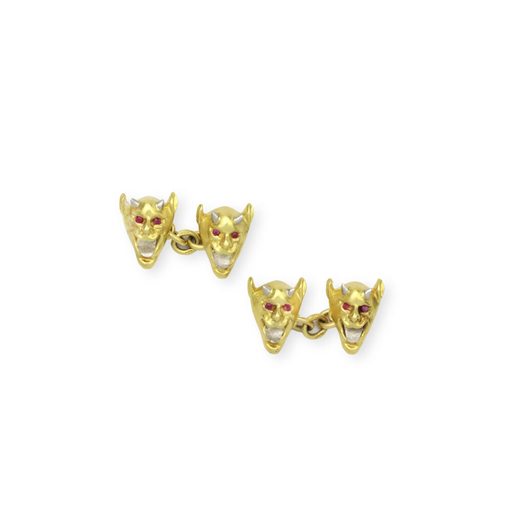 A Pair of Gold Novelty cufflinks