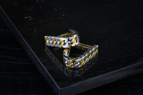 Hermes Pair Of Bi-Color Gold Cufflinks