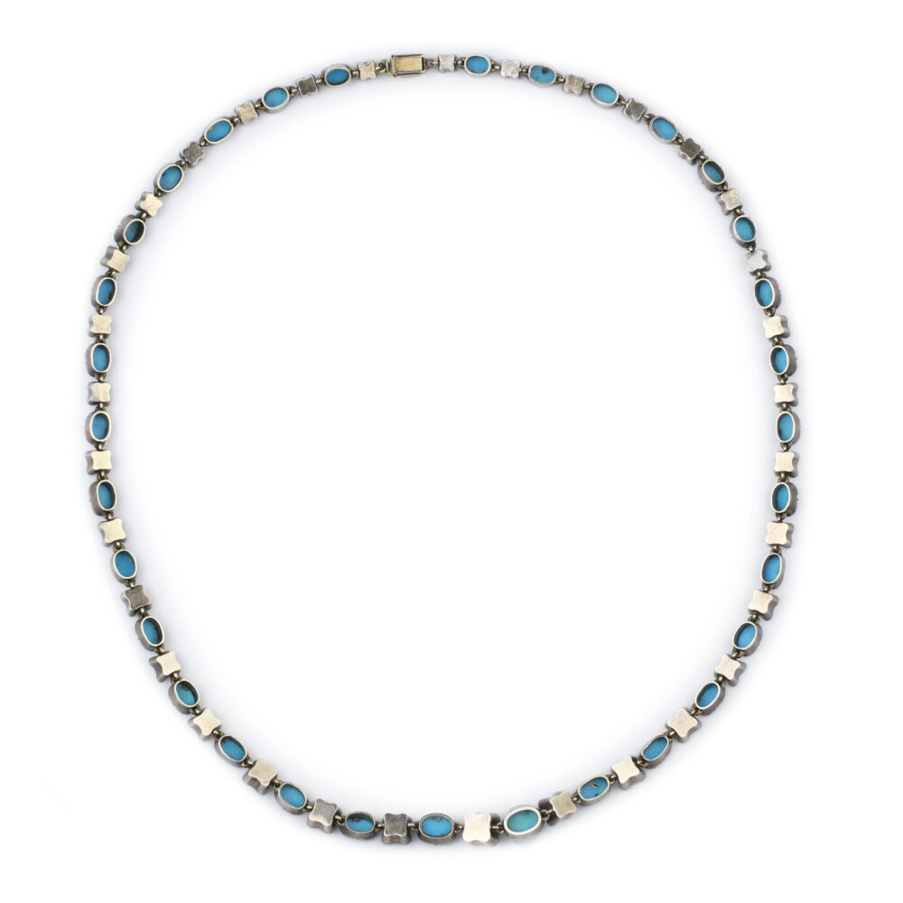 A Diamond and Turquoise Necklace