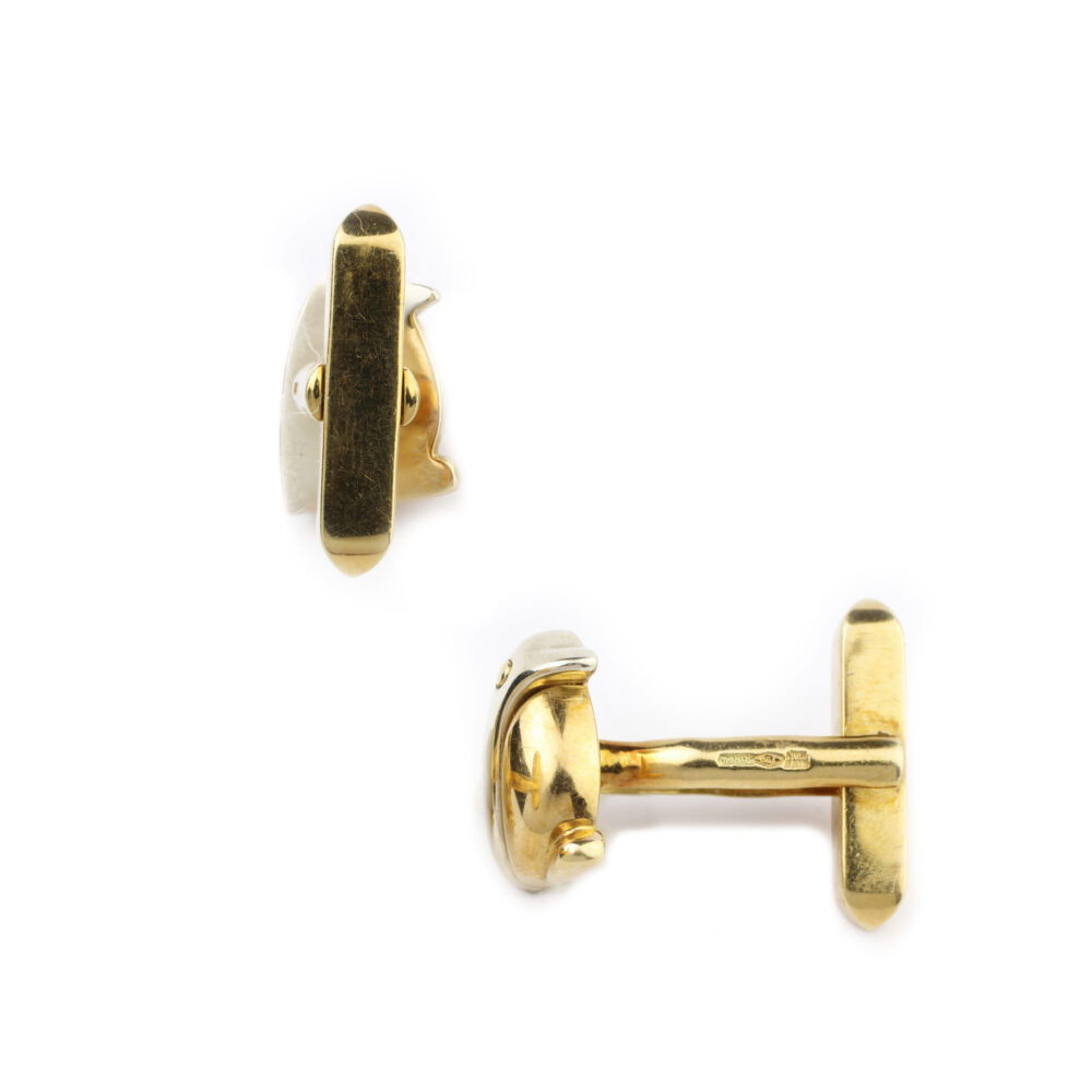 Bulgari Bi-Colored Gold Cufflinks