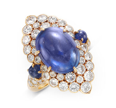 A Sapphire And Diamond Navette Ring, By Van Cleef & Arpels, Circa 1970