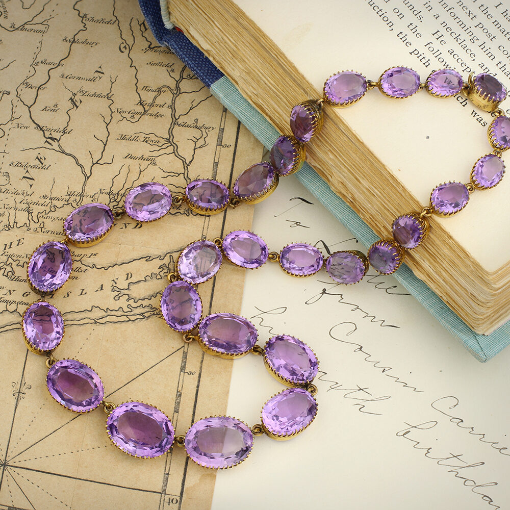 An Antique Amethyst Riviere Necklace