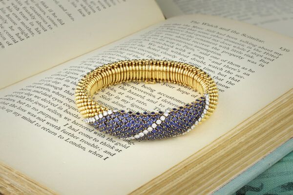 Van Cleef & Arpels 'Cous Cous' Gold, Diamond And Sapphire Bracelet