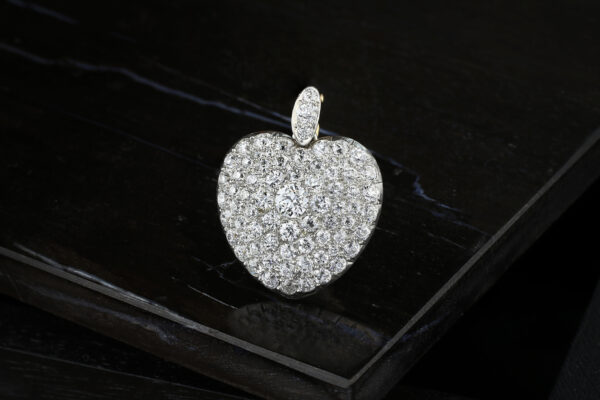Antique Diamond Set Heart Shaped Pendant