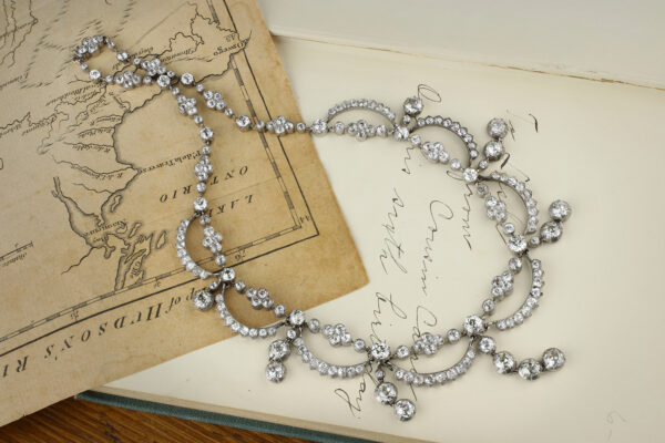 Antique Diamond Set Swag Necklace