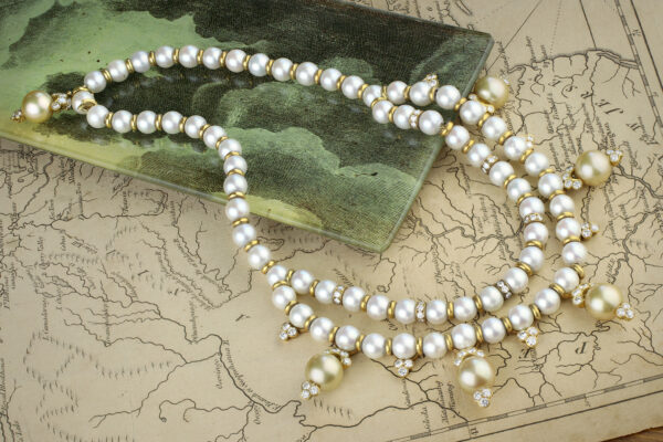 Van Cleef & Arpels Pearl And Diamond Necklace