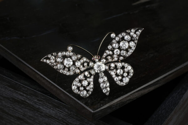 Antique Diamond Set Brooch