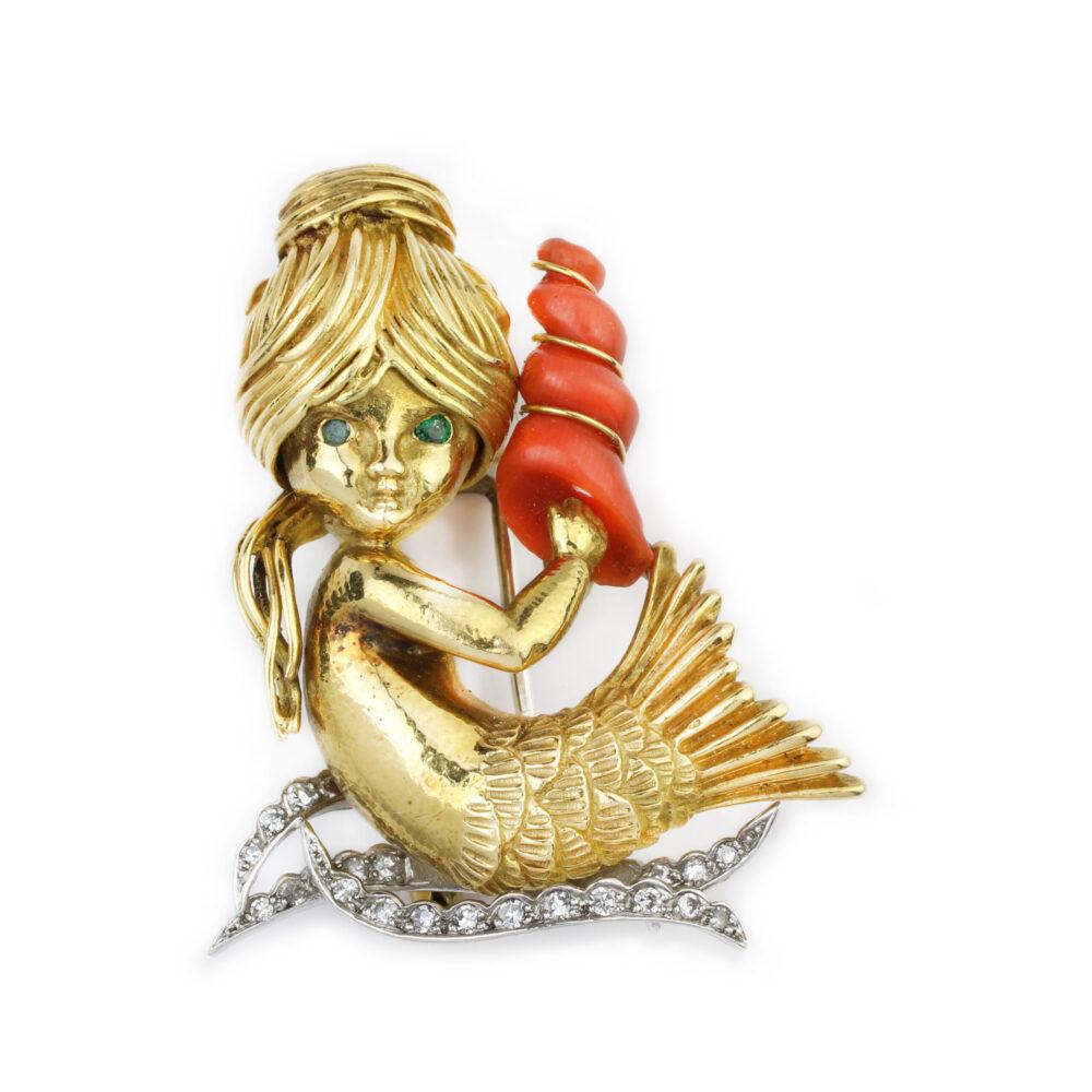 Van Cleef & Arpels Gem-set Gold and Platinum Brooch