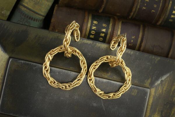 Cartier, Textured Gold Hoop Earrings