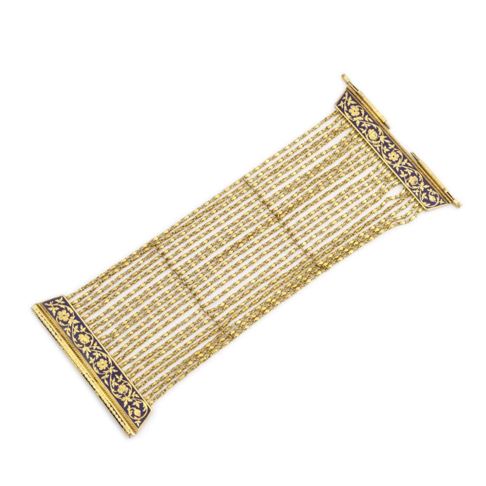 Antique Gold and Enamel Bracelet