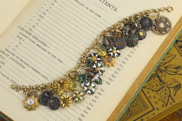 Miniature Orders Charm Bracelet