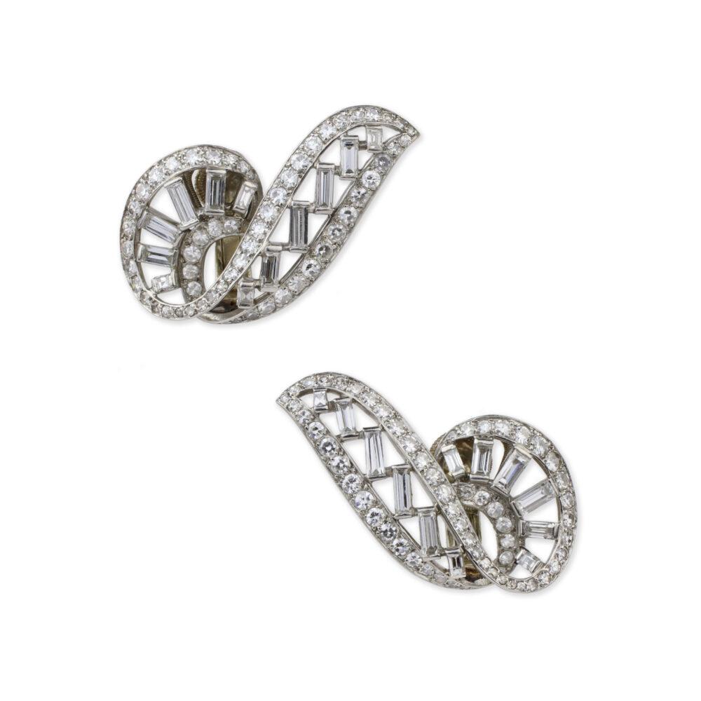 Cartier Diamond Set Ear Clips