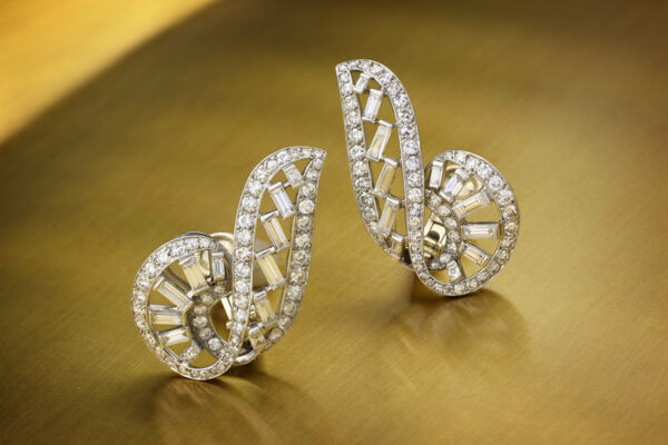 Cartier Diamond Set Ear Clips