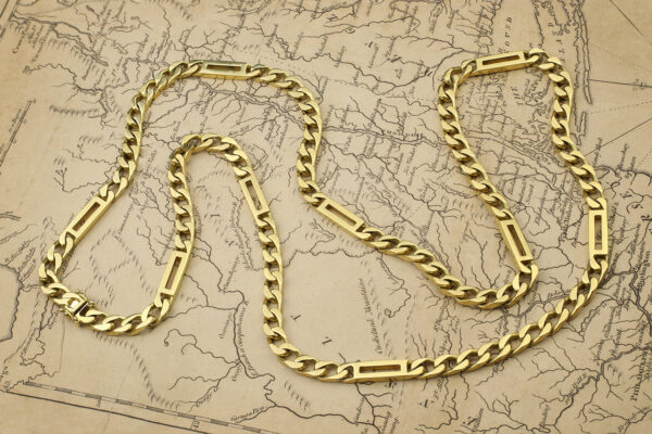 Bulgari Gold Long Chain Necklace