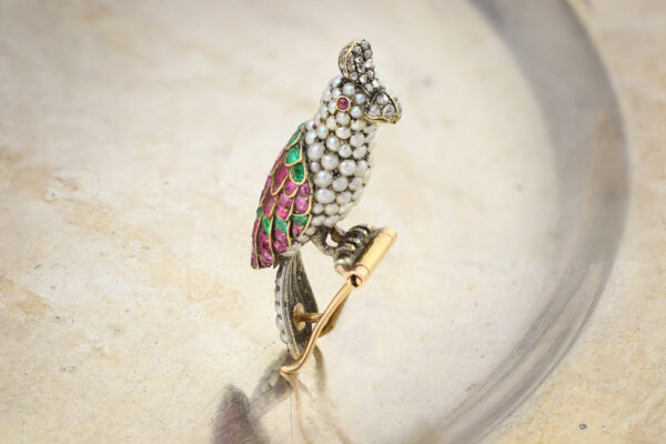 Antique Gem-set Bird Brooch