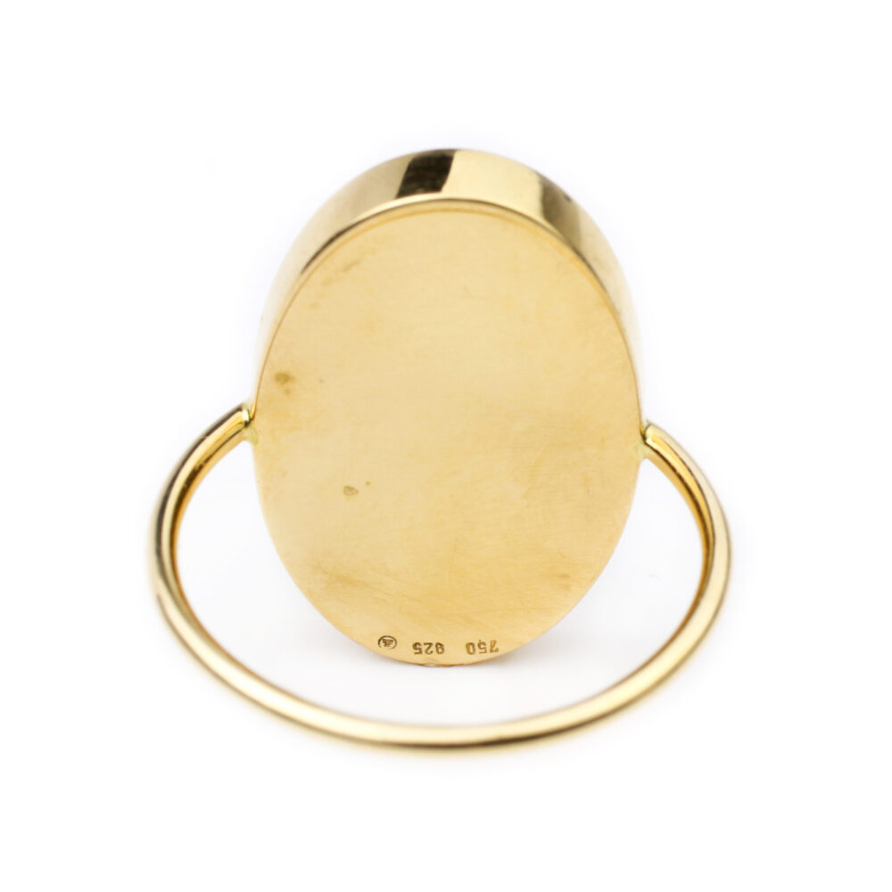 Gold and Diamond Inlaid Ring