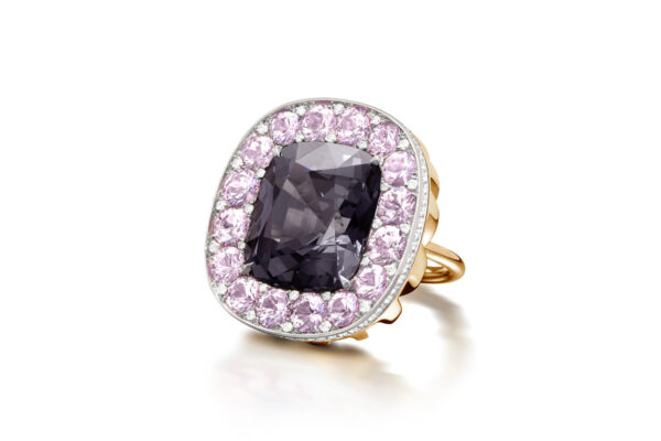 Greyish Purple Spinel, Sapphire And Diamond Ring» Price On Request «