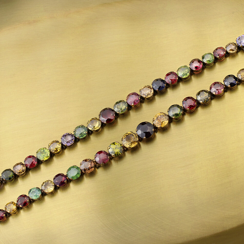 Antique Multi-Gem Line Bracelets